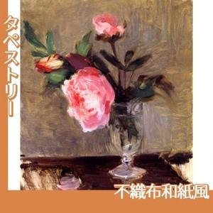 モリゾ「牡丹」【タペストリー:不織布和紙風】