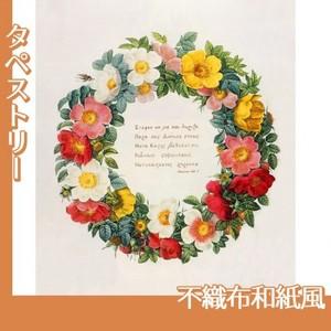 ルドゥーテ「バラ図譜の口絵」【タペストリー:不織布和紙風】