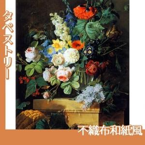 ルドゥーテ「ガラスの花瓶の花」【タペストリー:不織布和紙風】