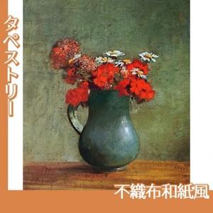 ルドン「花びんと花」【タペストリー:不織布和紙風】