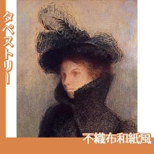 ルドン「マリー・ボトキン:アストラカンのコート」【タペストリー:不織布和紙風】
