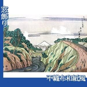葛飾北斎「東都御茶之水風景」【窓飾り:不織布和紙風】