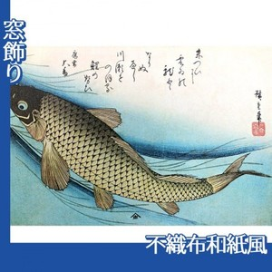 歌川広重「魚づくし 鯉」【窓飾り:不織布和紙風】