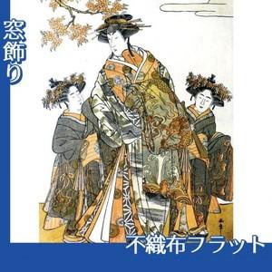 勝川春章「初代中村里好」【窓飾り:不織布フラット100g】