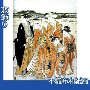 勝川春潮「三囲詣2」【窓飾り:不織布和紙風】