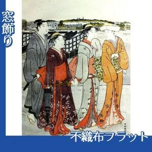 勝川春潮「三囲詣1」【窓飾り:不織布フラット100g】