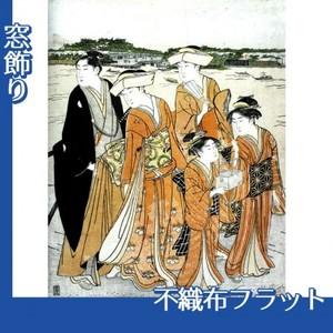 勝川春潮「三囲詣2」【窓飾り:不織布フラット100g】