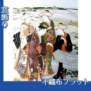 勝川春潮「三囲詣3」【窓飾り:不織布フラット100g】