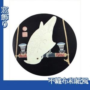 伊藤若冲「花鳥版画(六枚) 六.鸚鵡図」【窓飾り:不織布和紙風】