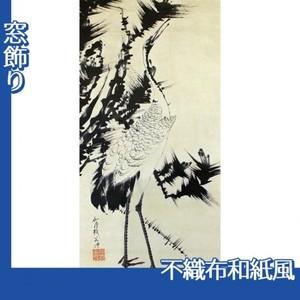 伊藤若冲「竹梅群鶴図2(双幅)」【窓飾り:不織布和紙風】