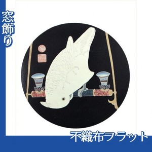 伊藤若冲「花鳥版画(六枚) 六.鸚鵡図」【窓飾り:不織布フラット100g】