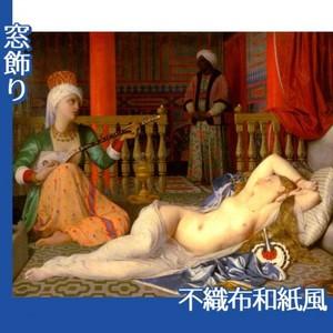 アングル「奴隷のいるオダリスク」【窓飾り:不織布和紙風】