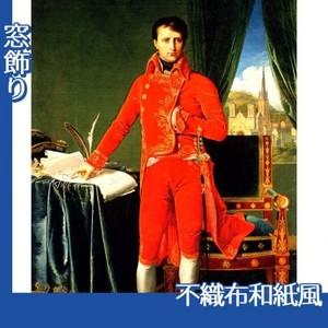 アングル「第一執政官ナポレオン・ボナパルト」【窓飾り:不織布和紙風】