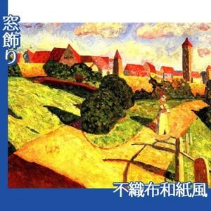 カンディンスキー「古い都市2」【窓飾り:不織布和紙風】