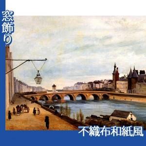 コロー「両替橋と裁判所」【窓飾り:不織布和紙風】