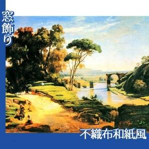 コロー「ナルニの橋」【窓飾り:不織布和紙風】