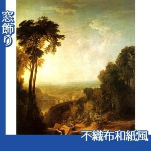 ターナー「小川を渡る」【窓飾り:不織布和紙風】