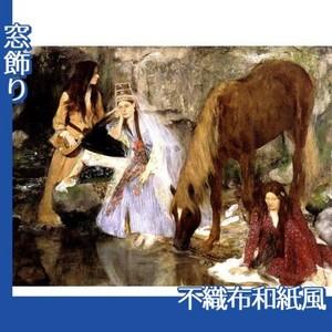 ドガ「バレエ「泉」のフィオルク嬢」【窓飾り:不織布和紙風】