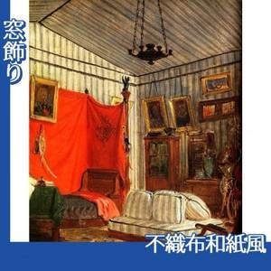 ドラクロワ「モルネー伯爵の居室」【窓飾り:不織布和紙風】