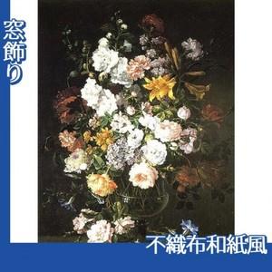 バティスト・モノワイエ「花瓶の花」【窓飾り:不織布和紙風】