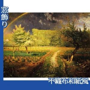 ミレー「春」【窓飾り:不織布和紙風】