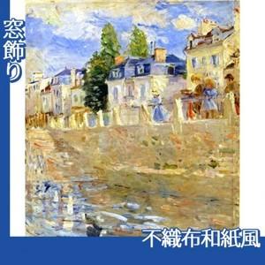 モリゾ「ブージヴァルの川岸」【窓飾り:不織布和紙風】