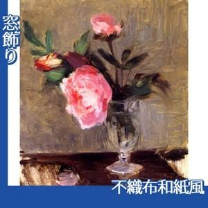 モリゾ「牡丹」【窓飾り:不織布和紙風】