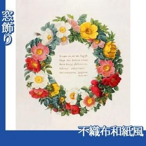ルドゥーテ「バラ図譜の口絵」【窓飾り:不織布和紙風】