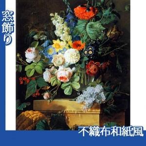 ルドゥーテ「ガラスの花瓶の花」【窓飾り:不織布和紙風】