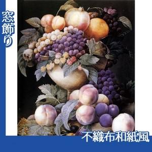 ルドゥーテ「器に盛られたブドウ」【窓飾り:不織布和紙風】