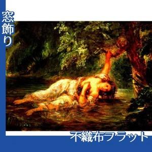 ドラクロワ「オフィーリアの死」【窓飾り:不織布フラット100g】