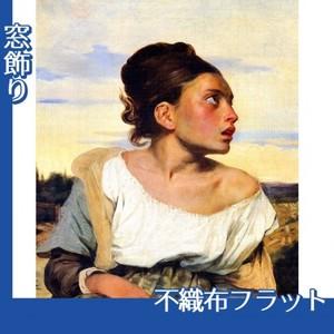 ドラクロワ「墓場の孤児」【窓飾り:不織布フラット100g】