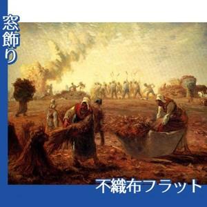 ミレー「夏:蕎麦の収穫」【窓飾り:不織布フラット100g】
