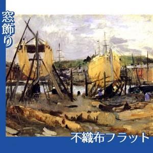 モリゾ「建造中の船」【窓飾り:不織布フラット100g】