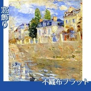 モリゾ「ブージヴァルの川岸」【窓飾り:不織布フラット100g】
