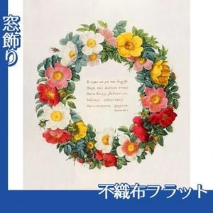 ルドゥーテ「バラ図譜の口絵」【窓飾り:不織布フラット100g】