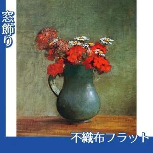 ルドン「花びんと花」【窓飾り:不織布フラット100g】