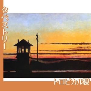 エドワード・ホッパー「線路沿いの日没 1929」【タペストリー:トロピカル】