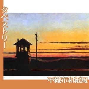エドワード・ホッパー「線路沿いの日没 1929」【タペストリー:不織布和紙風】