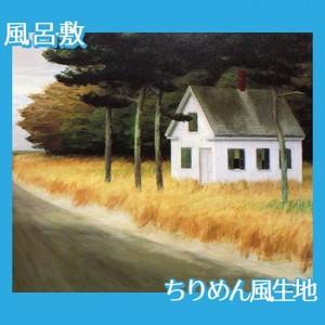 エドワード・ホッパー「孤独 1944」【風呂敷】