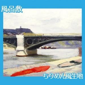 エドワード・ホッパー「カルゼール橋とオルレアン駅 1907」【風呂敷】