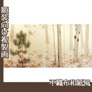 菱田春草「落葉(右)」【複製画:不織布和紙風】