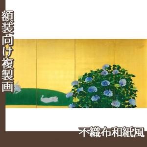 速水御舟「翠苔緑芝(左)」【複製画:不織布和紙風】