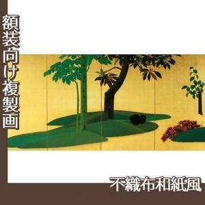 速水御舟「翠苔緑芝(右)」【複製画:不織布和紙風】