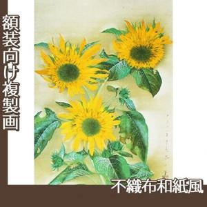 速水御舟「向日葵(本制作)」【複製画:不織布和紙風】