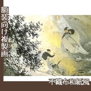 川合玉堂「鵜飼」【複製画:不織布和紙風】
