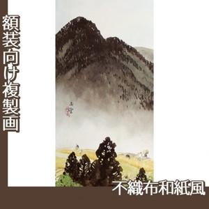 川合玉堂「遠雷麦秋1」【複製画:不織布和紙風】