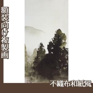 川合玉堂「冬の月1」【複製画:不織布和紙風】