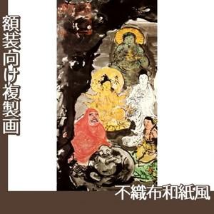 富岡鉄斎「古仏龕図」【複製画:不織布和紙風】