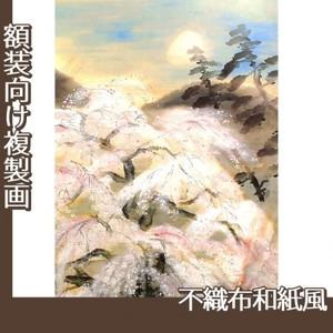 冨田溪仙「祇園夜桜図」【複製画:不織布和紙風】